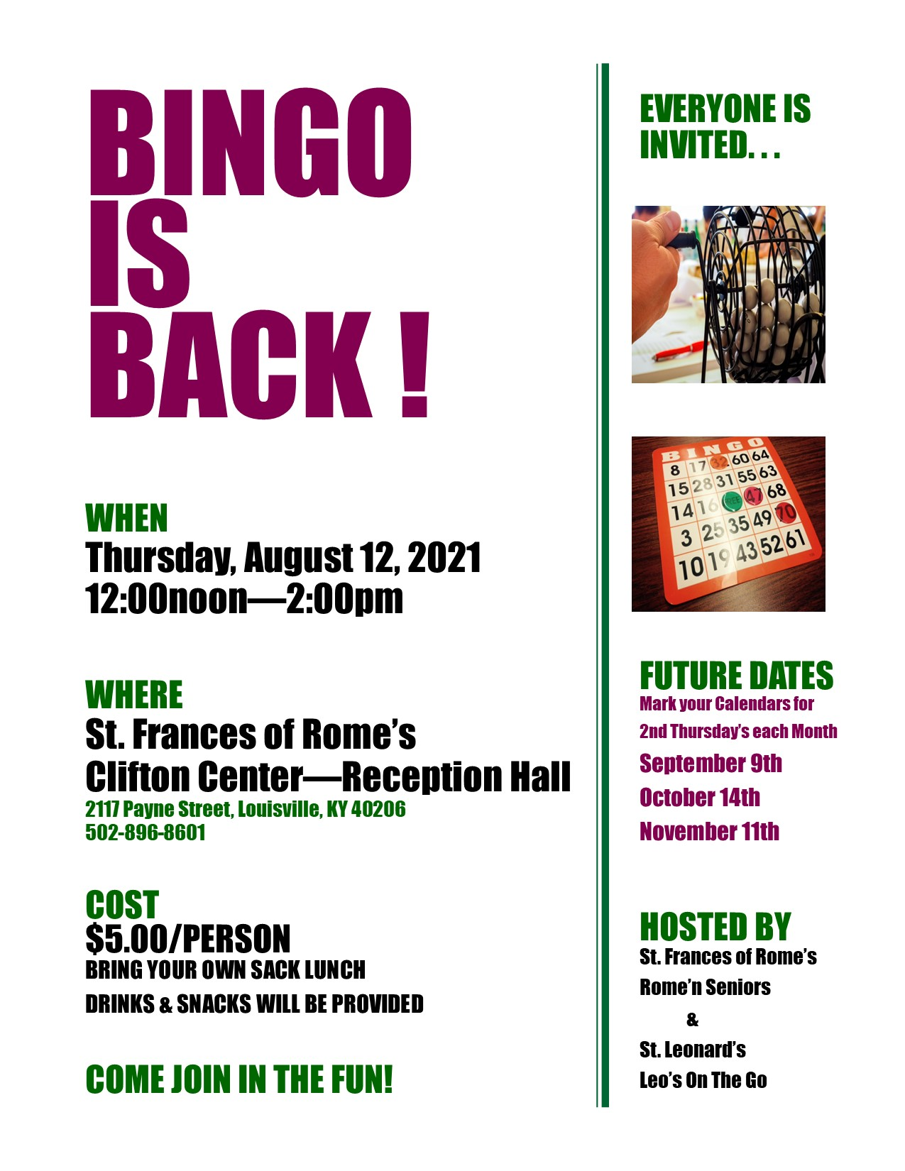 Bingo Ad Aug 21